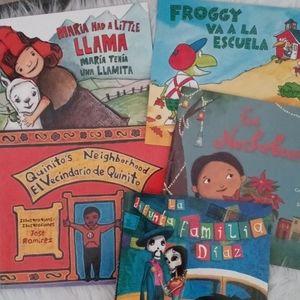 5 Spanish Bilingual Scholastic Children's Book Lot